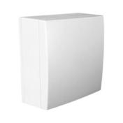 Boîte de dérivation électrique série BEL'VUE pour pose en saillie coloris blanc - Angle extérieur universel pour bandeau alvéolaire NICOLL BELRIV Système coloris sable - Gedimat.fr