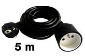 Câble électrique souple H05VVF section 3G1,5mm² coloris noir en bobine de 5m - Gaines - Tubes - Moulures - Electricité & Eclairage - GEDIMAT