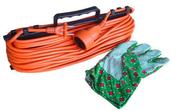 Rallonge électrique de jardin avec câble 2x1,5mm² longueur 25m coloris orange - Rallonges - Enrouleurs - Electricité & Eclairage - GEDIMAT