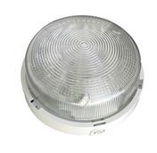Hublot d'éclairage rond polypropylène 1/4 de tour coloris blanc pour lampe à culot à visser E27 puissance 60W maxi - Projecteurs - Baladeuses - Hublots - Electricité & Eclairage - GEDIMAT
