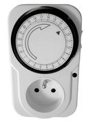 Programmateur ménager électrique mécanique journalier 2 pôles + terre 16A avec interrupteur et voyant de mise sous tension - Domotique - Electricité & Eclairage - GEDIMAT
