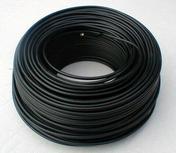 Câble électrique rigide unifilaire H07VU diam.1,5mm² coloris noir en couronne de 25m - Extracteur mural extra plat avec temporisateur diam.10cm en ABS blanc - Gedimat.fr