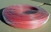 Câble électrique rigide unifilaire H07VU diam.2,5mm² coloris rouge en couronne de 25m - Bande de chant pré-encollée larg.4,4cm long.5m ép.3mm décor alu - Gedimat.fr