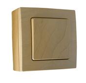 Interrupteur ou va et vient simple série BEL'VUE pour pose en saillie intensité 10A coloris hêtre - Imposte bois exotique ELENA haut.40cm larg.80cm - Gedimat.fr