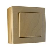 Bouton poussoir simple série BEL'VUE pour pose en saillie intensité 10A coloris hêtre - Imposte bois exotique ELENA haut.40cm larg.80cm - Gedimat.fr