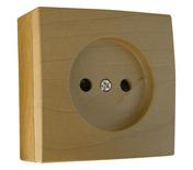 Prise de courant simple série BEL'VUE pour pose en saillie 2 pôles 16A coloris hêtre - Interrupteurs - Prises - Electricité & Eclairage - GEDIMAT