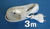 Câble électrique méplat H03VHH2F diam.2x0,75mm² coloris blanc long.3m - Gaines - Tubes - Moulures - Electricité & Eclairage - GEDIMAT
