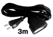 Câble électrique méplat H03VHH2F diam.2x0,75mm² coloris noir long.3m - Gaines - Tubes - Moulures - Electricité & Eclairage - GEDIMAT