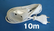Câble électrique méplat H03VHH2F diam.2x0,75mm² coloris blanc long.10m - Gaines - Tubes - Moulures - Electricité & Eclairage - GEDIMAT