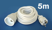 Câble électrique souple H05VVF section 3G1,5mm² coloris blanc en bobine de 5m - Gaines - Tubes - Moulures - Electricité & Eclairage - GEDIMAT