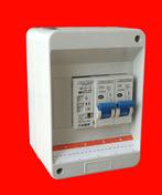 Coffret électrique modulaire pré-équipé pour branchement de chauffe eau électrique en 220V - Carrelage pour sol en grès cérame émaillé EASY dim.45x45cm coloris grey - Gedimat.fr