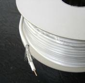 Câble coaxial pour antenne télévision type 21PATCA diam.6,8mm coloris blanc long.50m - Fils - Câbles - Electricité & Eclairage - GEDIMAT