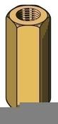 Manchon hexagonal long.20mm pour tige filetée M6 - boite de 100 pièces - Accessoires plafonds - Isolation & Cloison - GEDIMAT