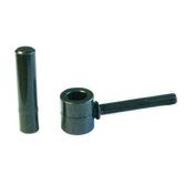 Gond à scellement chimique en acier diam.14mm long.9cm finition zinguée noir - Arrêt de portail à sceller H.250mm pour épaisseur de 30 à 70mm Noir - Gedimat.fr