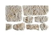 Plaquettes de parement en pierre reconstituée MANOIR coloris naturel - Mortier joint ORSOL Beige - Gedimat.fr