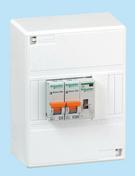 Coffret chauffe eau tableaux 1 rangée 3 modules montés câblés technologie peignable XP 3 pièces - Tableaux électriques - Electricité & Eclairage - GEDIMAT