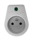 Prise de courant parafoudre Sécurity PRO simple pour installation électrique bipolaire 2P+T 16A - Modulaires - Boîtes - Electricité & Eclairage - GEDIMAT