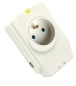 Prise de courant parafoudre Sécurity PRO pour installation électrique bipolaire 2P+T 16A avec protection téléphone et télévision - Modulaires - Boîtes - Electricité & Eclairage - GEDIMAT