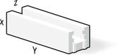 Bloc béton cellulaire chainage horizontal U long.60cm haut.25cm ép.15cm - Porte d'entrée HANOI en aluminium laqué droite poussant haut.2,15m larg.90cm gris/blanc - Gedimat.fr