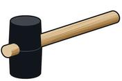 Maillet en caoutchouc pour bloc béton cellulaire - Poutre VULCAIN section 20x30 cm long.5,00m pour portée utile de 4,1 à 4,60m - Gedimat.fr