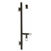 Espagnolette plate avec accessoires long.2,4m noir - Demi-tuile DOUBLE HP20 coloris flammé rustique - Gedimat.fr