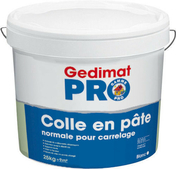 Colle carrelage en pâte D1ET pour mur intérieur seau de 20kg - Laine de verre en panneau roulé HOMETEC 35 nu ép.100mm larg.1,20m long.6m - Gedimat.fr