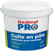 Colle carrelage en pâte améliorée D2T pour mur intérieur pour local humide seau de 25kg - Receveur carré à poser EMILIE grès haut.10cm dim.90x90cm blanc - Gedimat.fr