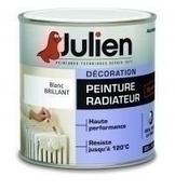 Peinture radiateur JULIEN bidon de 0,50 litre coloris blanc brillant - GEDIMAT - Matériaux de construction - Bricolage - Décoration