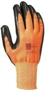 Gant tricoté enduit nitrile taille 8 orange/noir - Protection des personnes - Vêtements - Outillage - GEDIMAT