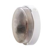 Hublot d'éclairage EBENOID rond polypropylène blanc et verre pour lampe à culot à visser E27 100W maxi - Projecteurs - Baladeuses - Hublots - Electricité & Eclairage - GEDIMAT