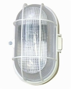 Hublot d'éclairage EBENOID ovale polypropylène blanc et verre pour lampe à culot à visser E27 60W maxi - Projecteurs - Baladeuses - Hublots - Electricité & Eclairage - GEDIMAT