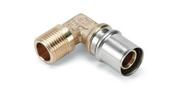 Coude à sertir pour tube multicouches NICOLL Fluxo angle 90° diam.26mm sortie à visser mâle diam.26x34mm - Té cuivre à souder réduit diam.16x12x16mm 2 pièces - Gedimat.fr
