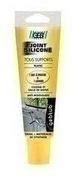 Mastic silicone tous supports tube 100ml ton blanc - Pâtes et Mastics sanitaires - Plomberie - GEDIMAT