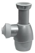 Siphon universel pour lavabo et évier TOUT EN UN finition gris métal - Vidages - Salle de Bains & Sanitaire - GEDIMAT