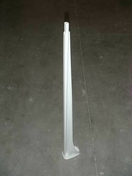 Poteau pour balustrade palier et escalier - Rive équerre droite DC12 coloris rouge bourgogne - Gedimat.fr
