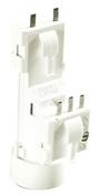 Douille et fiche DCL nylon pour lampe de puissance maxi 75W - Boite de centre à sceller standard vendue en sachet - Gedimat.fr