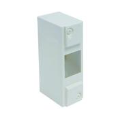Coffret électrique modulaire cache bornes blanc à équiper 2 modules - Tableaux électriques - Electricité & Eclairage - GEDIMAT