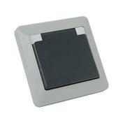 Prise de courant série OPALINE étanche 2 pôles + terre 16A coloris gris - Coude plastique égal pour tuyau polyéthylène diam.25mm en vrac 1 pièce - Gedimat.fr