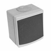 Poussoir étanche PERLE vendu sous film gris - Interrupteurs - Prises - Electricité & Eclairage - GEDIMAT
