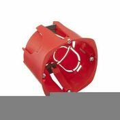Boîte d'encastrement 1 poste pour cloison creuse diam.67mm prof.50mm - Boîte de dérivation carrée avec couvercle pour maçonnerie coloris vert dim.100x100mm haut.40mm sous film 1 pièce - Gedimat.fr
