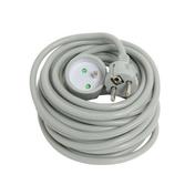 Rallonge prolongateur électrique mâle femelle 2 pôles + terre 16A avec cordon d'alimentation rond coloris gris câble H05VVF 3G1,5mm² long.10m sur plaquette de 1 pièce - Rallonges - Enrouleurs - Electricité & Eclairage - GEDIMAT