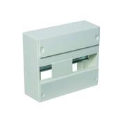 Coffret modulaire de distribution électrique blanc à équiper 1 rangée de 13 modules - Tableaux électriques - Electricité & Eclairage - GEDIMAT
