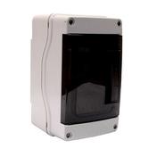 Coffret électrique modulaire à équiper étanche IP65 gris 4 modules - Meuble de cuisine BOIS SCIE BLANC bas 1 porte bp haut.70cm larg.40cm + pieds réglables de 12 à 19cm - Gedimat.fr