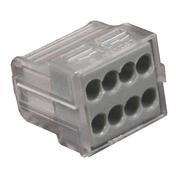 Borne électrique automatique avec alvéoles de test 8 pôles coloris gris 6 pièces - Modulaires - Boîtes - Electricité & Eclairage - GEDIMAT