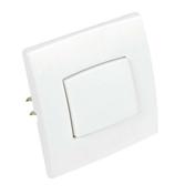 Poussoir simple série PERFECT 6A coloris blanc mat sous film de 1 pièce - Interrupteurs - Prises - Electricité & Eclairage - GEDIMAT