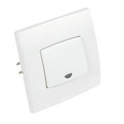 Poussoir simple à voyant série PERFECT 6A coloris blanc mat sous film de 1 pièce - Poutre HERCULE section 35x12cm long.3,90m pour portée utile de 2.9 à 3.50m - Gedimat.fr