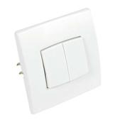 Interrupteur ou va et vient double série PERFECT 6A coloris blanc mat sous film de 1 pièce - Listel Bergen carrelage pour mur en grès émaillé NORDKAPP larg.4,5cm long.40cm coloris noir - Gedimat.fr