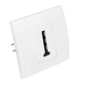 Prise téléphone femelle en T série PERFECT coloris blanc mat sous film de 1 pièce - Interrupteur simple va et vient lumineux encastré mono référence Ovalis blanc - Gedimat.fr