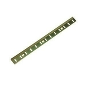 Crémaillère de meuble acier laitonné larg.16mm long.2m - Crémaillères - Consoles - Outillage - GEDIMAT