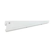 Console murale acier double pas laqu�e blanche long.220mm en vrac 1 pi�ce - Cr�maill�res - Consoles - Menuisier - GEDIMAT